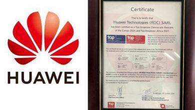 Photo of HUAWEI TECHNOLOGIES RDC obtient la certification Top Employer 2021 [Communiqué]